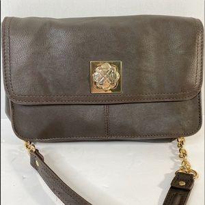 Piazza Brown Leather Shoulder Bag